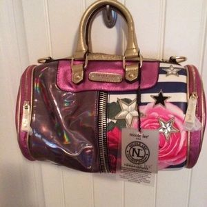 Nicole Lee Small Barrel Bag Rose stripe